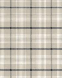 Schumacher Fabric St. Lucia Plaid Stone Fabric