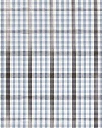 Schumacher Fabric Cozumel Plaid Cornflower Fabric