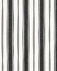 Schumacher Fabric Branca Stripe Noir Fabric