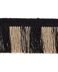 Schumacher Fabric Palm Frond Lava Black Fabric