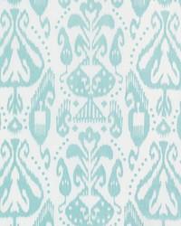 Schumacher Fabric Kiva Embroidered Ikat Sky Fabric