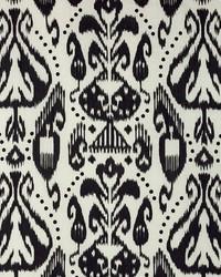 Schumacher Fabric Kiva Embroidered Ikat Raven Fabric
