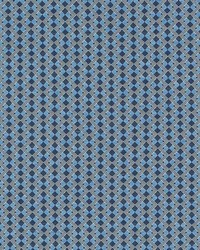 Schumacher Fabric Huxley Tile Blue Fabric