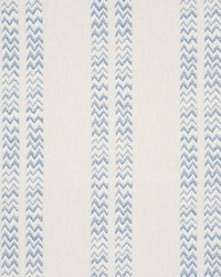 Schumacher Fabric Kudu Stripe Blue Fabric