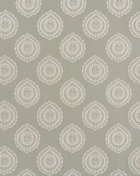 Schumacher Fabric Olana Linen Embroidery Haze Fabric
