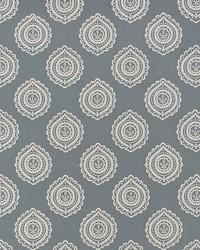 Schumacher Fabric Olana Linen Embroidery Slate Fabric