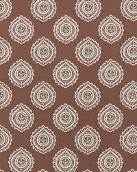 Schumacher Fabric Olana Linen Embroidery Cafe Mocha Fabric
