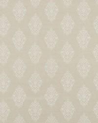 Schumacher Fabric Zinda Embroidery Sand Fabric