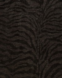 Schumacher Fabric Tiger Chenille Charcoal Fabric