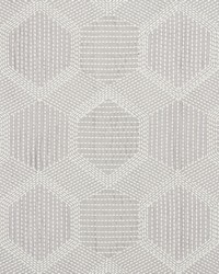 Schumacher Fabric Tortuga Embroidery Grey Fabric
