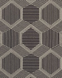Schumacher Fabric Tortuga Embroidery Black Fabric