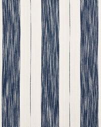 Schumacher Fabric Arroyo Stripe Indigo Fabric