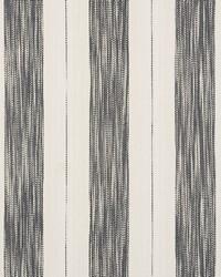 Schumacher Fabric Arroyo Stripe Charcoal Fabric