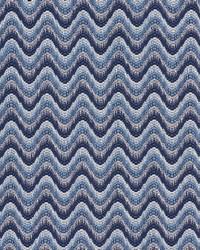 Schumacher Fabric Bargello Wave Blue Fabric