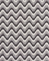 Schumacher Fabric Bargello Wave Graphite Fabric