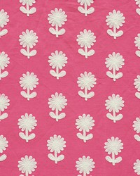 Schumacher Fabric Paley Embroidery Pink Fabric