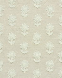 Schumacher Fabric Paley Embroidery Natural Fabric