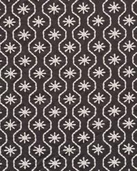 Schumacher Fabric Gigi Embroidery Graphite Fabric