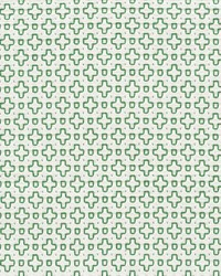 Schumacher Fabric Scout Embroidery Green Fabric