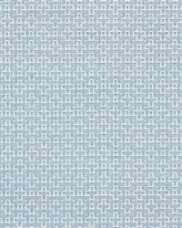 Schumacher Fabric Scout Embroidery Sky Fabric