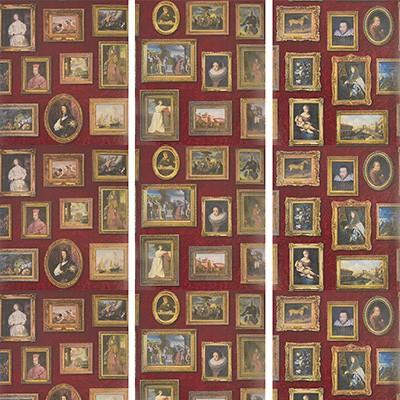 Kravet Wallcovering GALLERY RED Andrew Martin Museum