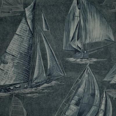 Ralph Lauren Wallpaper BOON ISLAND TOILE    MIDNIGHT             Search Results