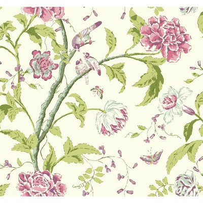 Carey Lind Carey Lind Vibe Teahouse Floral Wallpaper pearl, pale grey, heather pink, purple, grey/green Search Results