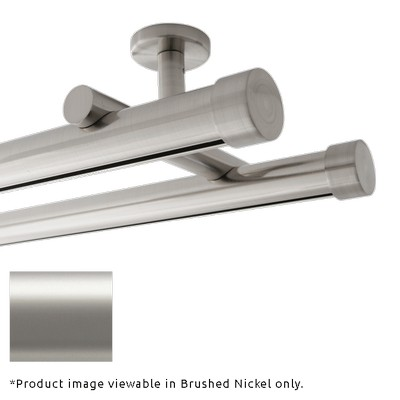 Finestra Double Rod Ceiling Mount Satin Nickel Satin Nickel Search Results