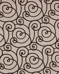 Robert Allen Flocked Scroll Truffle Fabric
