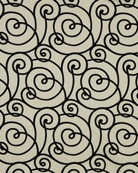 Robert Allen Flocked Scroll Night Sky Fabric