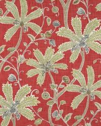 Robert Allen Indienne Ink Coral Fabric