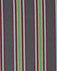 Robert Allen Villa Stripe Charcoal Fabric