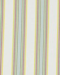 Robert Allen Villa Stripe Coral Fabric