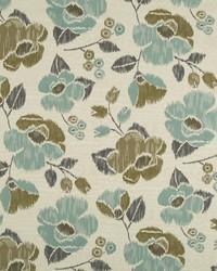 Robert Allen Vivid Posey BK Rain Fabric