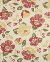 Robert Allen Vivid Posey BK Coral Fabric