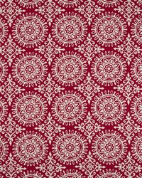 Robert Allen Suzani Strie Red Lacquer Fabric