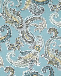 Robert Allen Global Paisley Rain Fabric