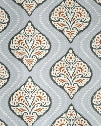 Robert Allen Kavali Ogee Persimmon Fabric