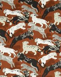 Robert Allen Rajita Tiger Persimmon Fabric