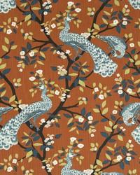 Robert Allen Plume Redux Persimmon Fabric