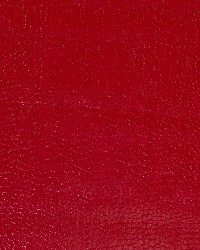 Robert Allen Smooth Croc Lacquer Red Fabric