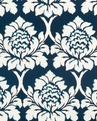 Robert Allen Palm Gardens Indigo Fabric