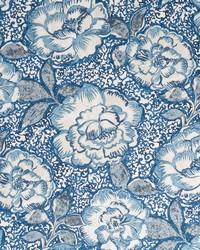 Robert Allen Peony Bowl Indigo Fabric
