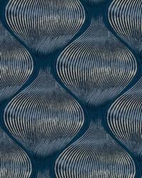 Robert Allen Kutev Rr Bk Indigo Fabric