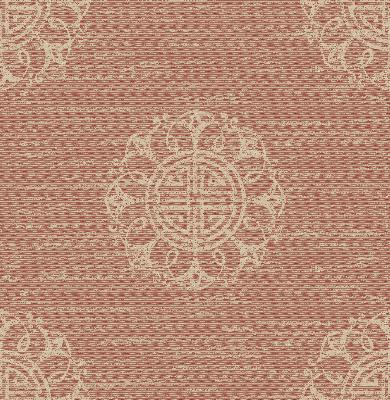 Brewster Wallcovering Lien Coral Fountain Medallion Coral Ethnic and Global