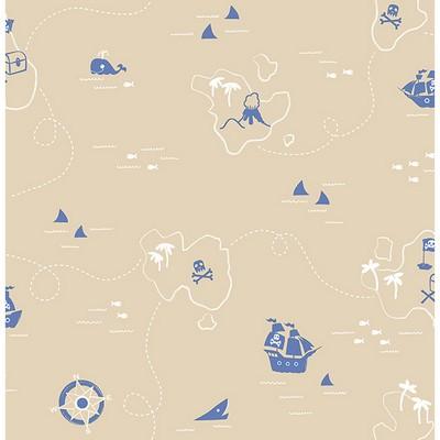 Brewster Wallcovering Sharks Sand Map Sand Boys Wallpaper