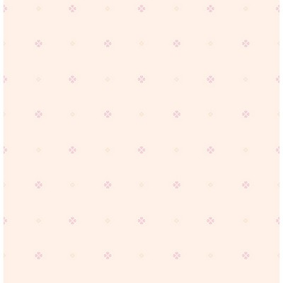 Brewster Wallcovering Floret Pink Mini Floral Geometric Pink Traditional Flower Wallpaper