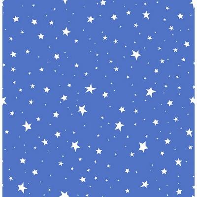 Brewster Wallcovering Stars Blue Stars Blue Boys Wallpaper