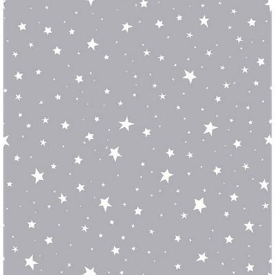 Brewster Wallcovering Stars Grey Stars Grey Boys Wallpaper