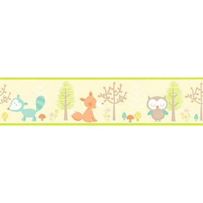 Brewster Wallcovering Happy Forest Friends Yellow Border Yellow Search Results